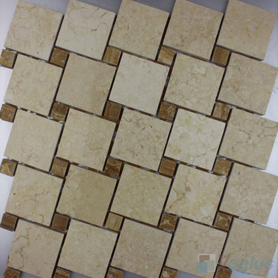 Golden Beige Polished Windmill Marble Mosaic VS-PWM99