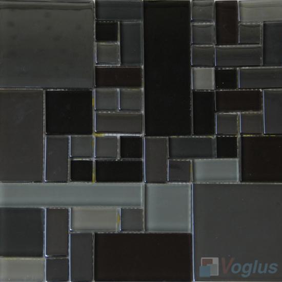 Gray Labyrinth Clear Crystal Mosaic VG-CYM94