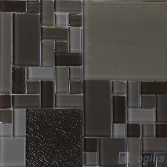 Grey Labyrinth Clear Crystal Mosaic VG-CYM93