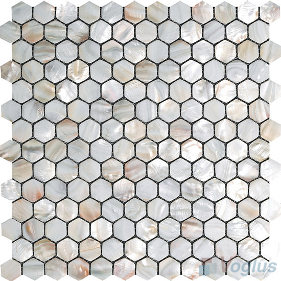 Hexagon Mother of Pearl Shell Mosaic Tiles VH-PN95