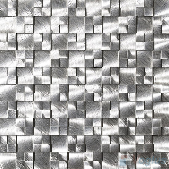 High Low Aluminum Metal Mosaic Tiles VM-AM88