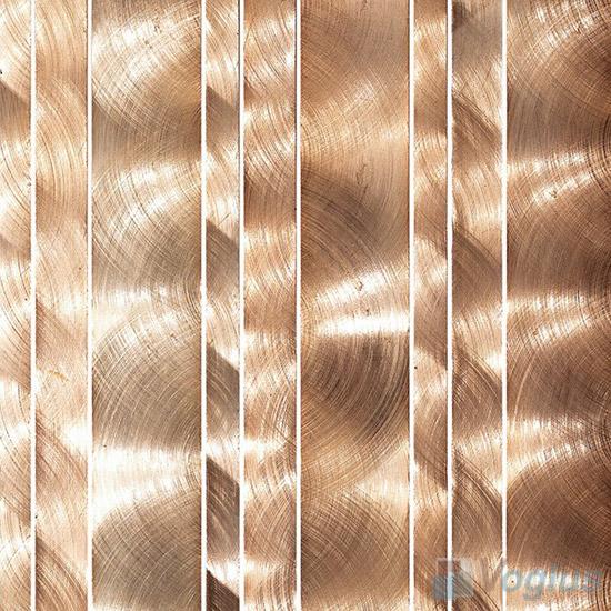 Linear Aluminum Metal Mosaic Tiles VM-AM87