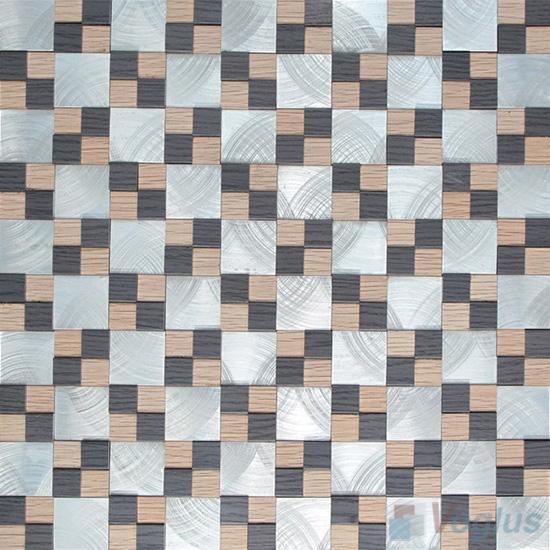 Magic Cube Aluminum Metal Mosaic VM-AM94