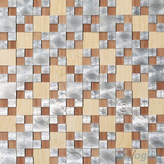 Magic Cube Aluminum Metal Mosaic VM-AM95