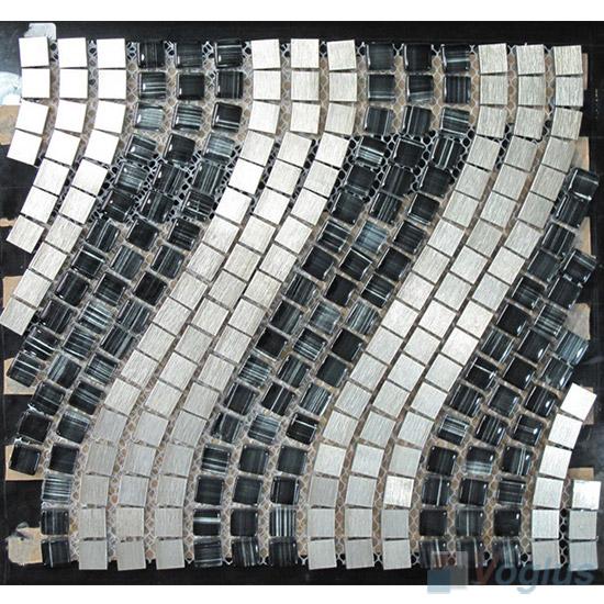 Wavy Aluminum Metal Mosaic VM-AM91