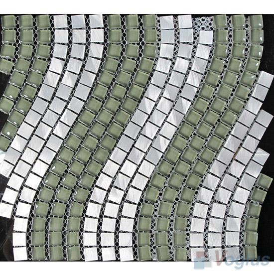 Wavy Aluminum Metal Mosaic VM-AM92