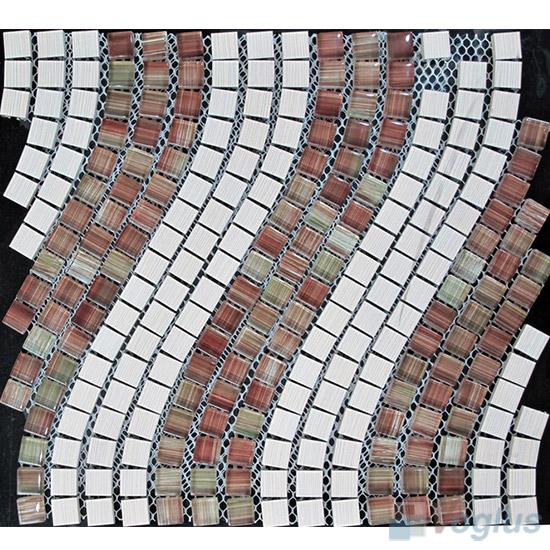 Wavy Aluminum Metal Mosaic VM-AM93