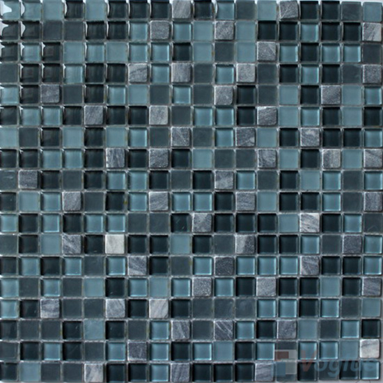 Air Force Blue 15x15mm Candy Crystal Mosaic VG-CYT94