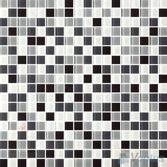 Black White 15x15mm Blend Crystal Glass Mosaic VG-CYA97