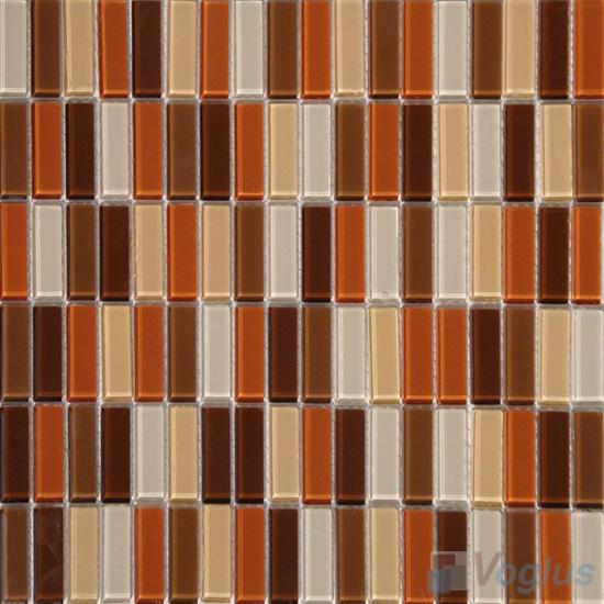 Brown Orange Blend Crystal Glass Tiles VG-CYC93