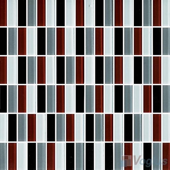 Chocogray Blend Crystal Glass Tiles VG-CYC89