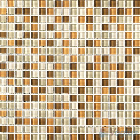 Goldenrod 15x15mm Blend Crystal Glass Mosaic VG-CYA91