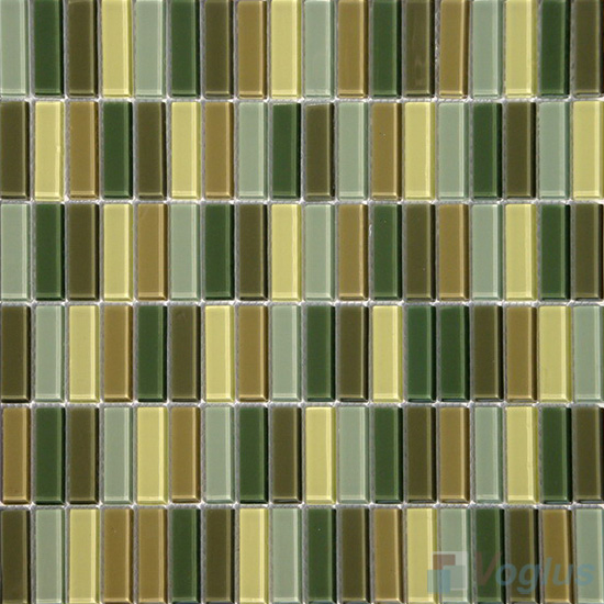 Green Mixed Blend Crystal Glass Tiles VG-CYC95