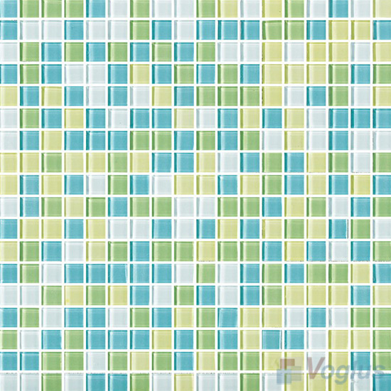 Greenblue 15x15mm Blend Crystal Glass Mosaic VG-CYA93