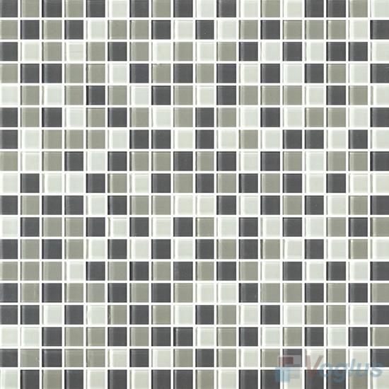 Grey Mixed 15x15mm Blend Crystal Glass Mosaic VG-CYA95