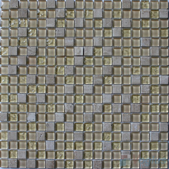 Ivory 15x15mm Candy Crystal Mosaic VG-CYT91