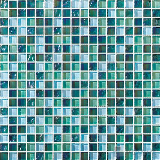 Jungle Green 15x15mm Blend Crystal Glass Mosaic VG-CYA86