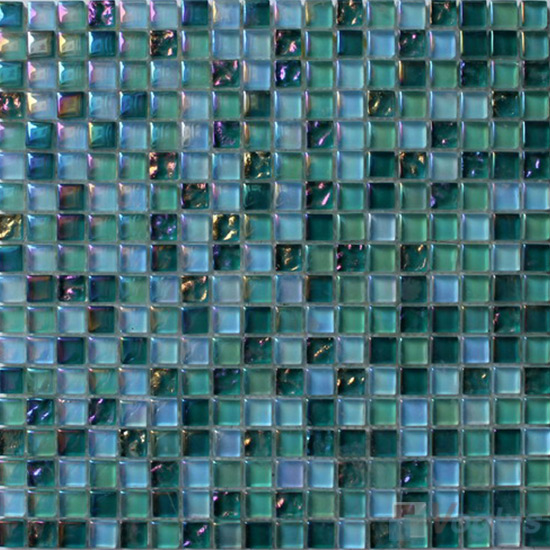 Pine Green 15x15mm Candy Crystal Mosaic VG-CYT98