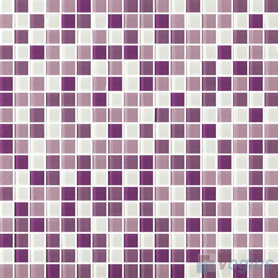 Purple Mix 15x15mm Blend Crystal Glass Mosaic VG-CYA96