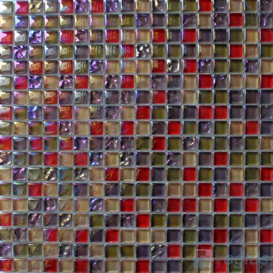 Rufous 15x15mm Candy Crystal Mosaic VG-CYT97