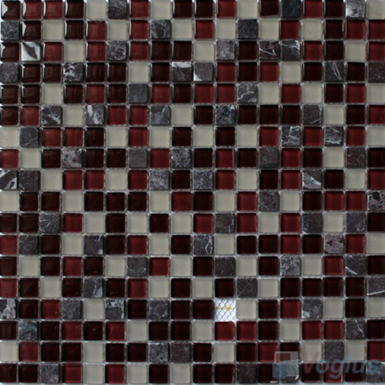 Seal Brown 15x15mm Candy Crystal Mosaic VG-CYT92