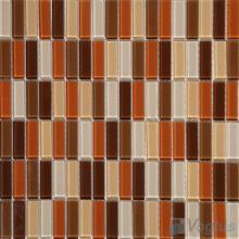 Brown Orange Blend Crystal Glass Tiles VG-CYC93
