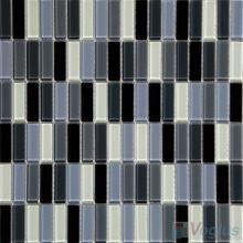 Gray White Blend Crystal Glass Tiles VG-CYC94
