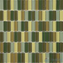 Green Mixed Blend Crystal Glass Tiles VG-CYC95