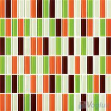 Orange Green Blend Crystal Glass Tiles VG-CYC91