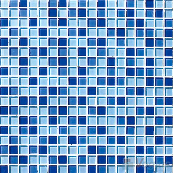 True Blue 15x15mm Blend Crystal Glass Mosaic VG-CYA90