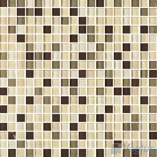 Wheat 15x15mm Blend Crystal Glass Mosaic VG-CYA94