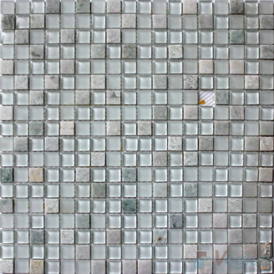White 15x15mm Candy Crystal Mosaic VG-CYT90