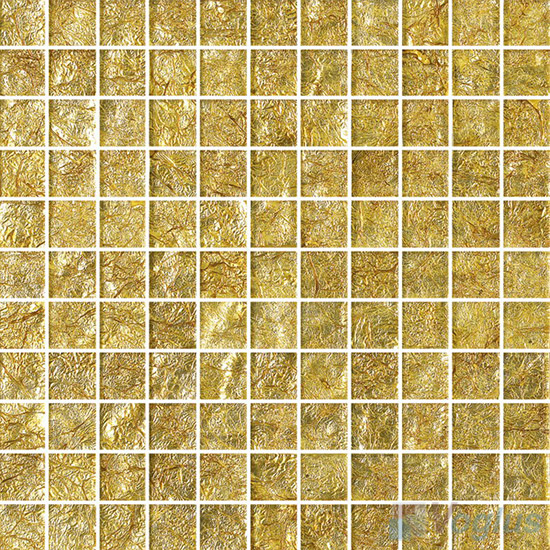 Sprayed Luxury Gold Leaf Glass Mosaic Voglus Mosaic