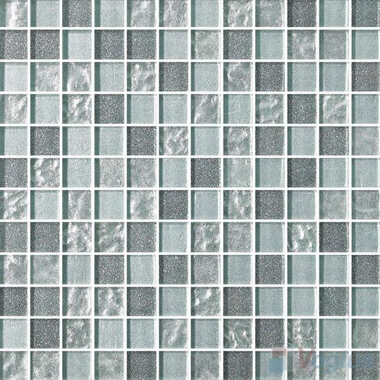 1x1 Gold Leaf Glass Mosaic Tile VG-GFB89
