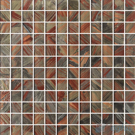23x23mm Hand Painted Glass Mosaic Tile VG-HPG85
