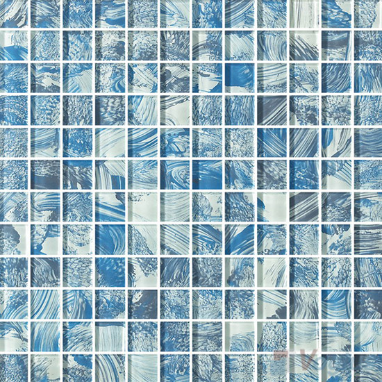 23x23mm Hand Painted Glass Mosaic Tile VG-HPG87