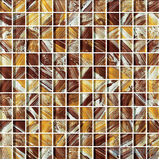 23x23mm Hand Painted Glass Mosaic Tile VG-HPG88