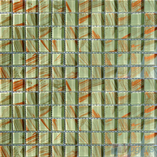 23x23mm Hand Painted Glass Mosaic Tile VG-HPG91