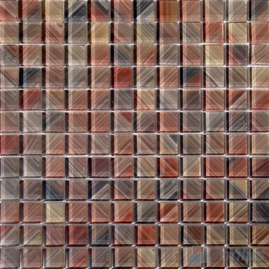 23x23mm Hand Painted Glass Mosaic Tile VG-HPG93