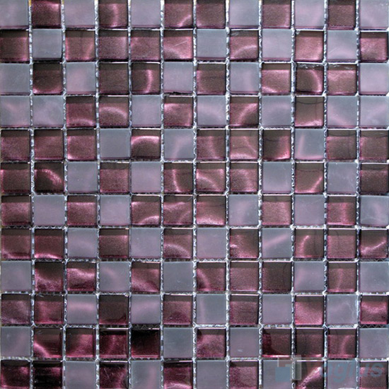 23x23mm Hand Painted Glass Mosaic Tile VG-HPG94