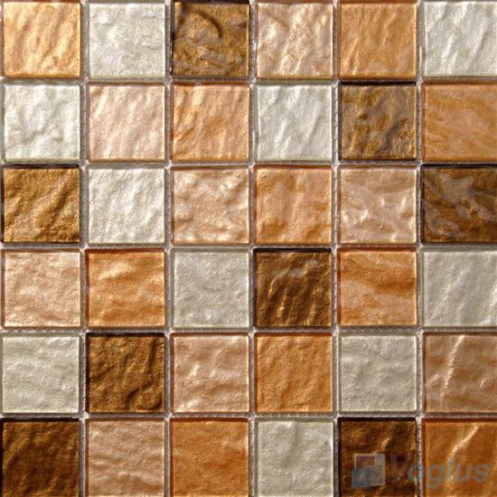 2x2 Heritage Gold Leaf Glass Tiles VG-GFE85