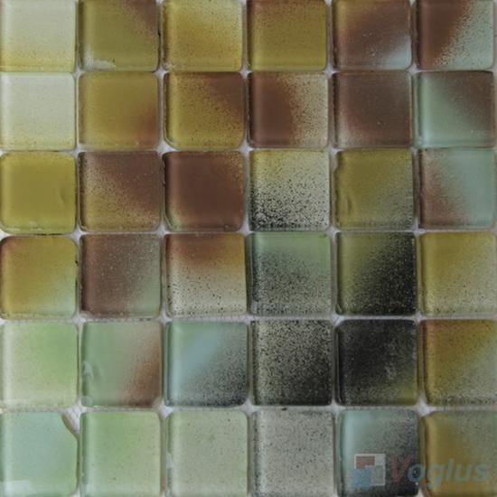 2x2 Heritage Gold Leaf Glass Tiles VG-GFE86
