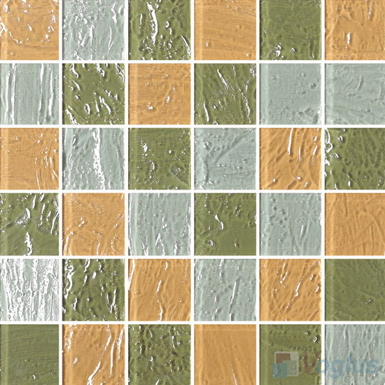 2x2 Heritage Gold Leaf Glass Tiles VG-GFE87