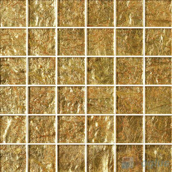 2x2 Heritage Gold Leaf Glass Tiles VG-GFE93