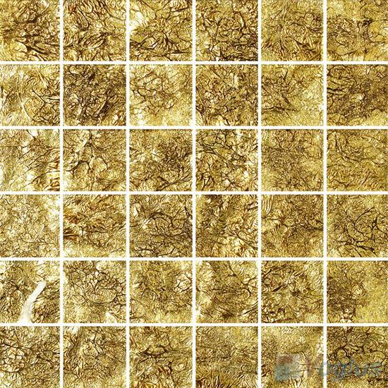 2x2 Heritage Gold Leaf Glass Tiles VG-GFE95