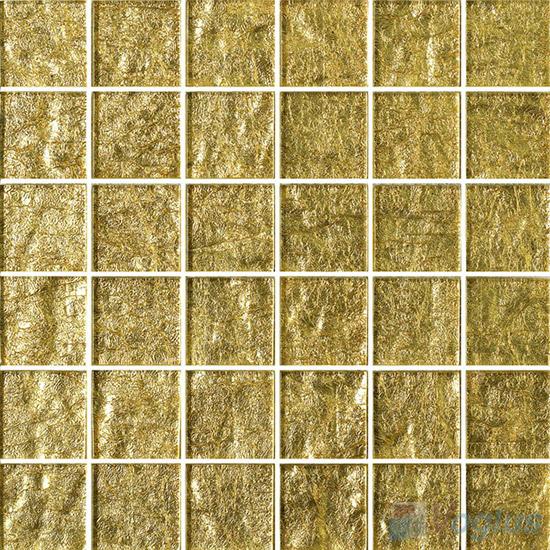 2x2 Heritage Gold Leaf Glass Tiles VG-GFE97