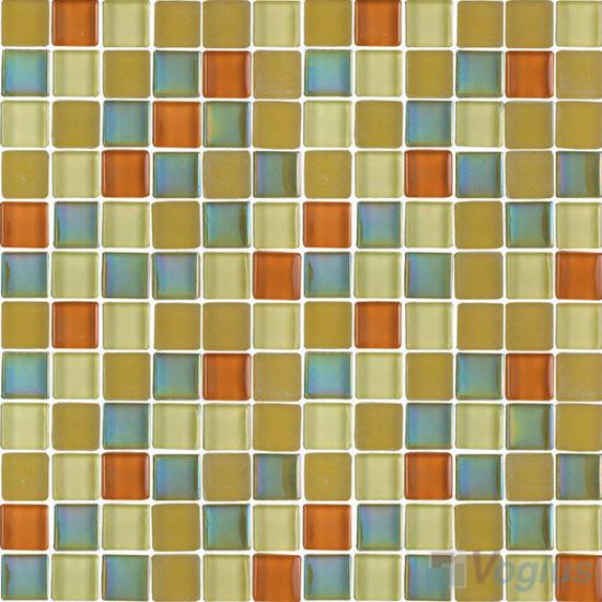 Beige 1x1 Blend Crystal Glass Mosaic Tiles VG-CYR90