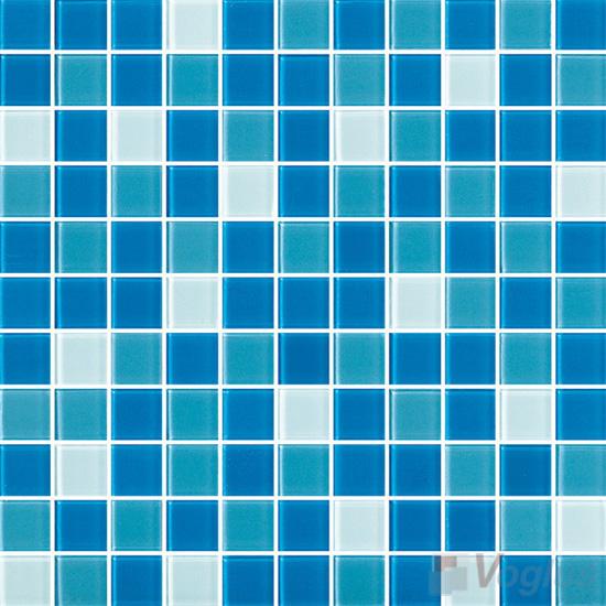 Blue 1x1 Blend Crystal Glass Mosaic Tiles VG-CYR93