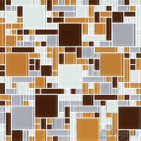 Brown Mix Miscellaneous Crystal Glass Mosaic Tiles VG-CYS99