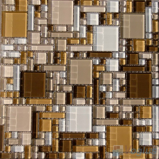 Browny Miscellaneous Crystal Glass Mosaic Tiles VG-CYS94